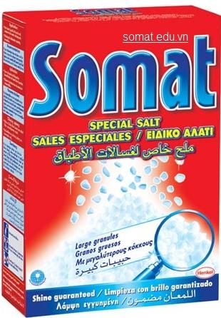 Muối rửa chén Somat, cho gia đình yên tâm về độ bền của máy rửa chén