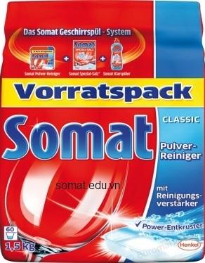 Công thức tẩy rửa tiên tiến với 8 thành phần độc đáo của bột rửa chén Somat