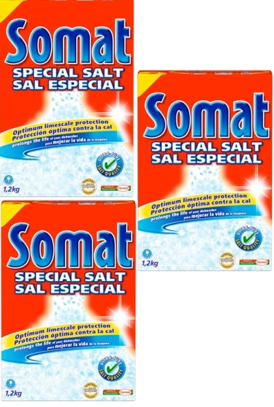 Somat rửa bát dạng muối kèm nước trợ xả chuyên dụng chất lượng