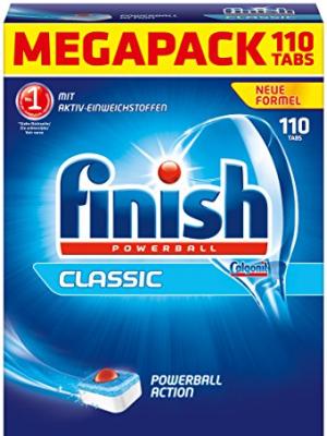 viên rửa bát finish megapack 110 tabs made in eu chuyên dùng cho máy rửa bát