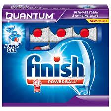 Sử dụng finish powerball quantum nhập khẩu nguyên hộp tại Đức