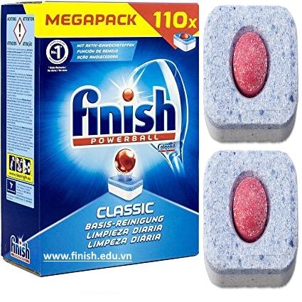 viên rửa bát finish 110 viên 3 in 1 nhập khẩu từ đức