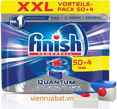 viên rửa bát finish quantum 50 viên + 4 tabs ( 54 viên) dùng cho máy rửa bát